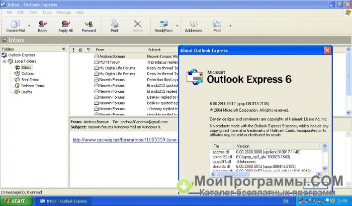 Outlook express windows 10 portable