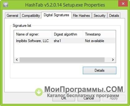 HashTab free download for Windows 10, 7, 8 - Oshi