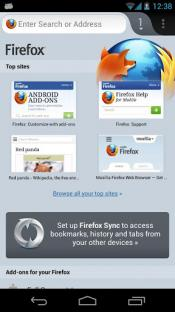 Скриншот Mozilla Firefox для Android