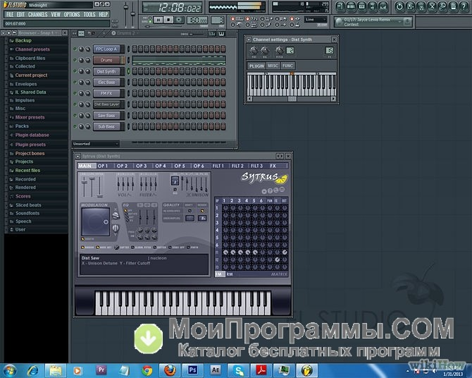 скачать fl studio 9 + crack