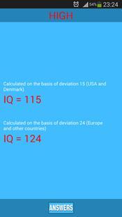IQ Test скриншот 3