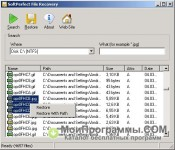 SoftPerfect File Recovery скриншот 1