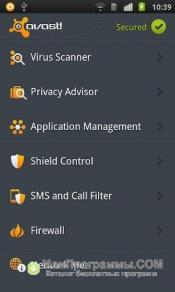 Скриншот Avast PDA для WM