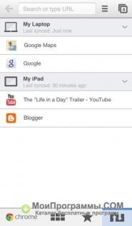 Скриншот Google Chrome для смартфона
