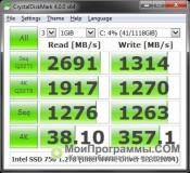 CrystalDiskMark скриншот 1