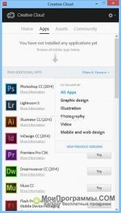 Скриншот Adobe Creative Cloud