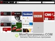 Скриншот Opera для планшета
