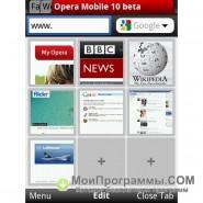 Opera для Symbian скриншот 3