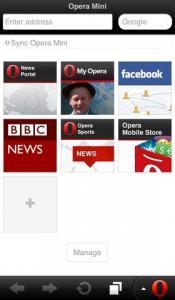 Opera для iPhone скриншот 1