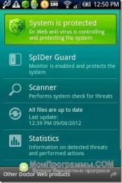 Скриншот Doctor Web для Android