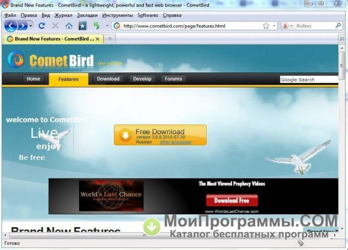 Cometbird русская скачать бесплатно