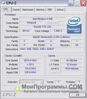 CPU-Z скриншот 1